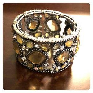 Stretch Jeweled Cuff Bracelet